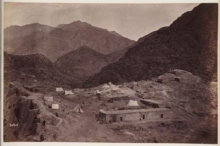 'Ali Musjid [sic], Interior of Fort Looking Towards Kuta', 1878.