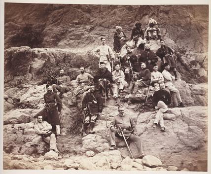 'Officers of the 51st regt on Sultan Tara...', c 1878.