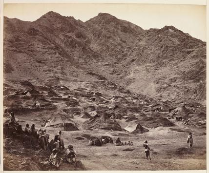 'Kutchi (Gypsy) Village Near Dacca [sic]', c 1878.