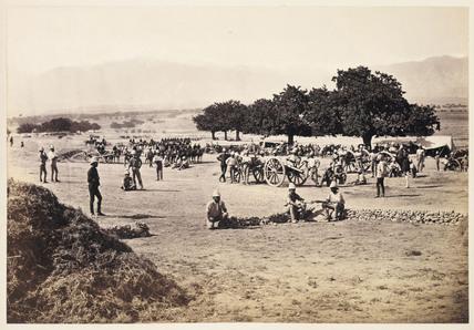 'Jellallabad [sic] - Scenes in Camp', 1879.