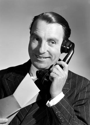Man on the telephone, 1958.