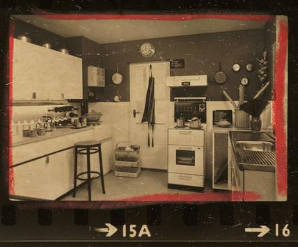 Crouch House kitchen, 1965.
