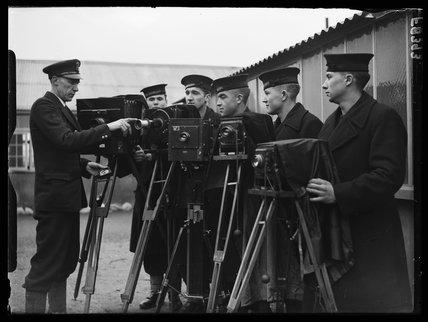 Royal Navy photographers, 16 February 1938.