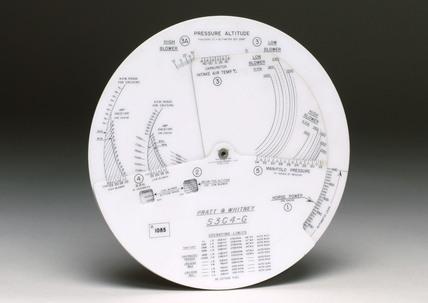 Circular slide rule, American, 1942-1945.