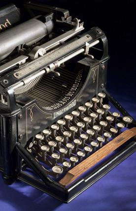 Underwood No 1 typewriter, 1897.