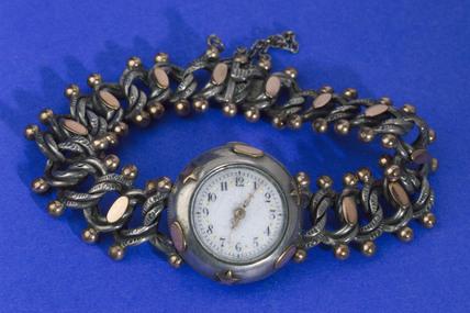Bezel wind wrist watch, c 1880.