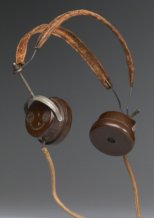 BBC headphones, c 1923.
