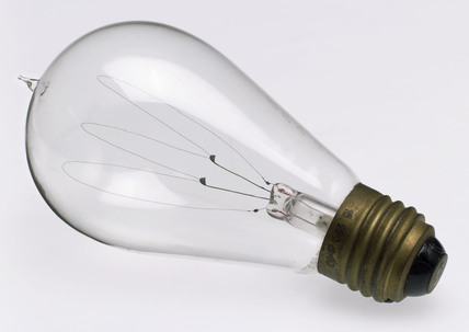 Carbon filament lamp, 1890-1920.