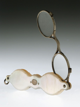 Hand spectacles, French, 1790-1850.