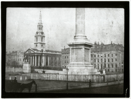 Nelson's Column, Trafalgar Square, London, c 1845.
