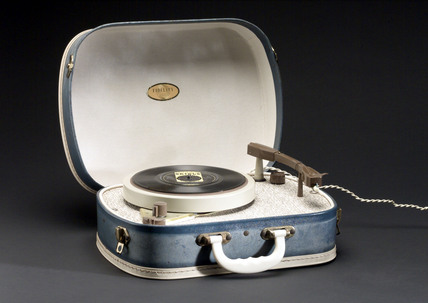 Fidelity four speed record player, c 1960.
