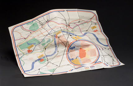 British Railways and London Transport pocket map, 1950.