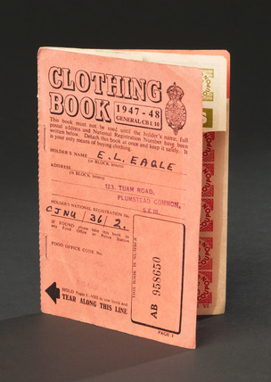 Clothing coupon book, 1947-1948.