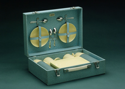Picnic set in case by Sirram, c 1955.