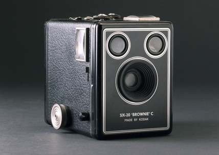 Kodak 'Six-20 Brownie C' roll film box camera, c 1948.