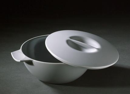 Grey 'Melaware' plastic butter dish, c 1960-1970.