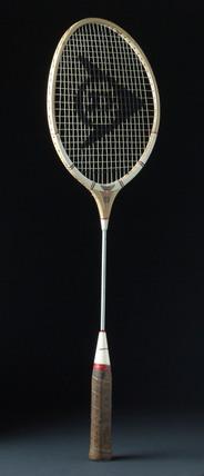 Dunlop Maxply Under 5 badminton racket with steel shaft, c 1965.
