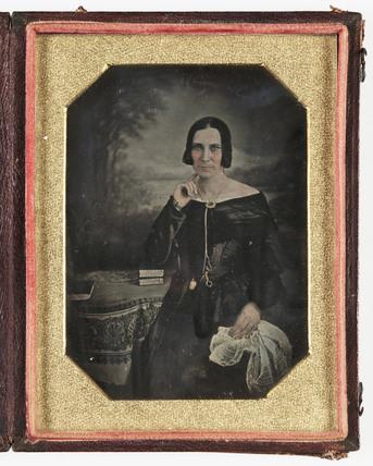 Daguerreotype of a woman, c 1845.