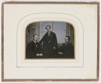 Three gentlemen, c 1860.