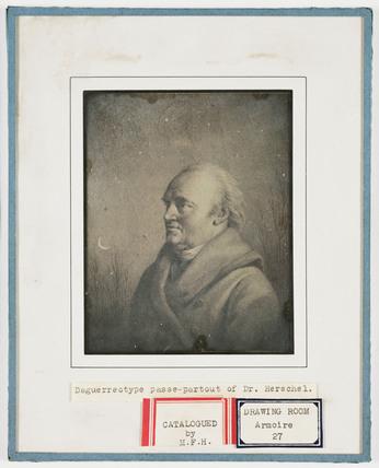 'Daguerreotype passe-partout of Dr Herschel', c 1850.