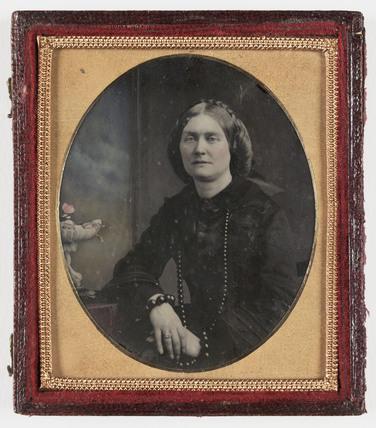 Mrs Adams, c 1860.