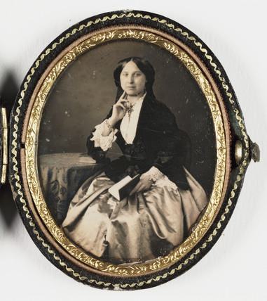 Daguerreotype of a woman, c 1850.