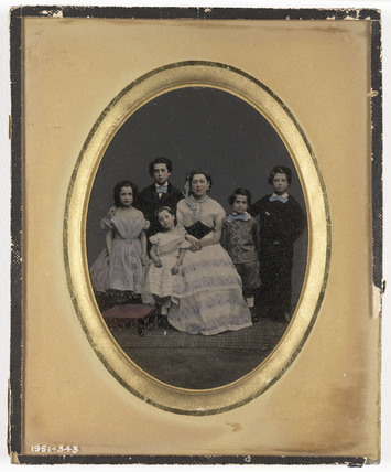 A family group, c 1860.