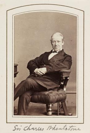 'Sir Charles Wheatstone', c 1865.