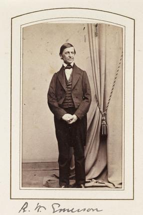 'R W Emerson', c 1860.