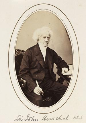 'Sir John Herschel FRS', c 1865.