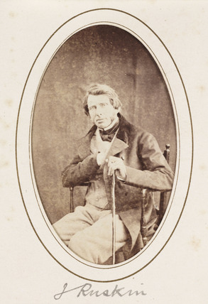 'J Ruskin', c 1870.