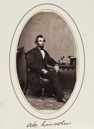 'Abe Lincoln', c 1863.