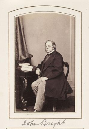 'John Bright', c 1865.