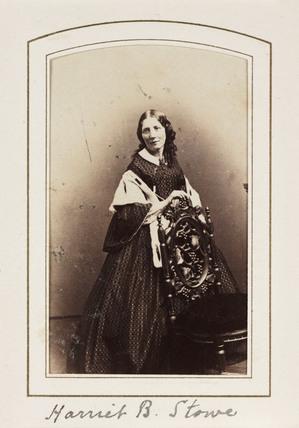 'Harriet B. Stowe', c 1865.
