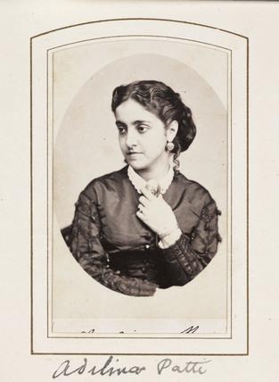 'Adelina Patti', c 1866.
