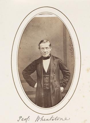 'Prof. Wheatstone', c 1870.