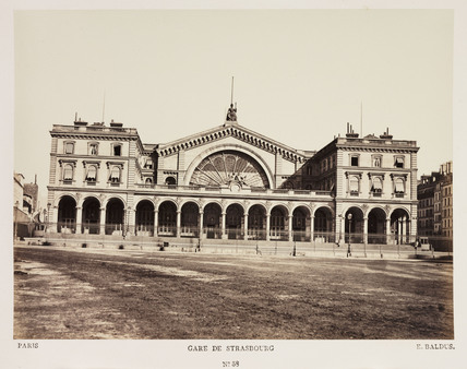 'Gare de Strasbourg', Paris, c 1865.