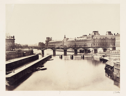 The Louvre and buildings on the Seine,   Paris, c 1865.