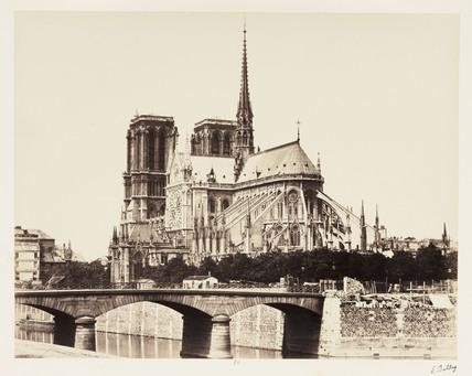 Notre Dame and the River Seine, Paris, c 1865.