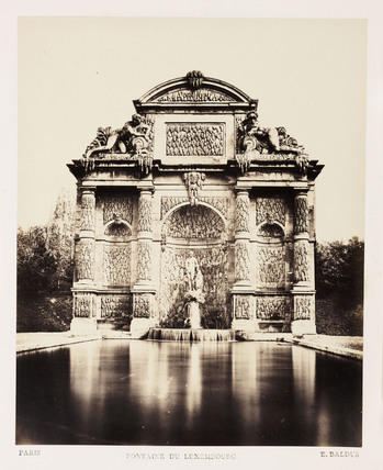 'Fontaine du Luxembourg', Paris, c 1865.