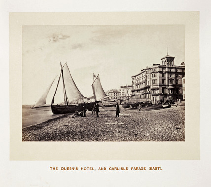 'The Queen's Hotel, and Carlisle Parade (East)', 1864.