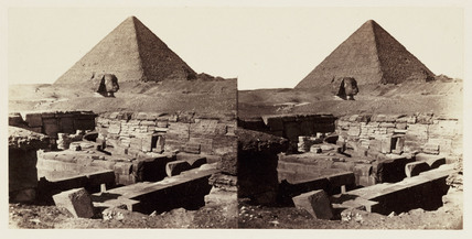 'The Great Pyramid and Head of Sphinx', 1859.