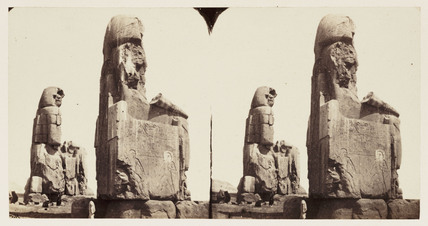 'Two Colossal Statues of Memnon - Thebes', 1859.