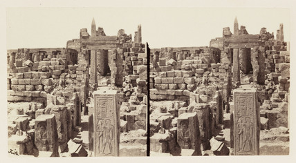 'The Temple of Karnac, Thebes - Central Avenue', 1859.