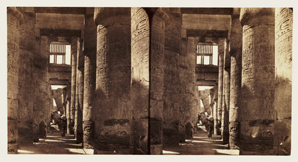 'Hall of the Temple of Karnac, Thebes', 1859.