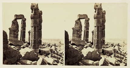 'The Columns of Amunothph III at Soleb - Ethiopia', 1859.