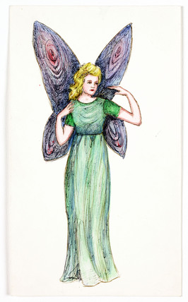 Drawing of a fairy, c 1983