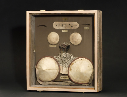 Case containing cosmetic devices, English, 1880-1930.