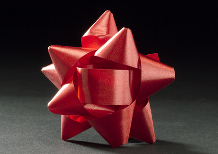 Red decorative bow, 1976.