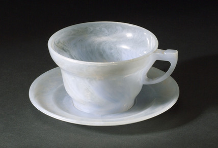 Polystyrene cup and saucer, 1945-1960.